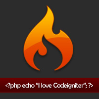 I love codeigniter